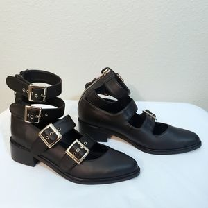 CURRENT MOOD Matte Black Low Heel Booties 7M
